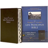 NKJV LP BIBLE (LARGE PRINT; THUMB INDEXED) - BLACK BONDED LEATHER LLPNKJBLI