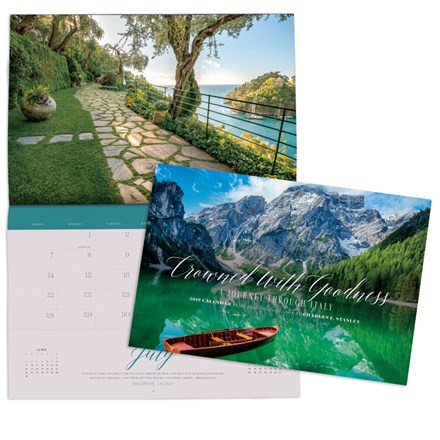 2019 Wall Calendar- Crowned With Goodness: A Journey Through Italy CAL19