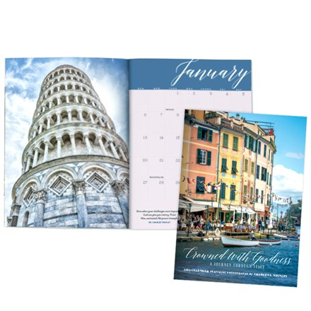2019 Monthly Planning Calendar- Crowned With Goodness: A Journey Through Italy CAL19PC